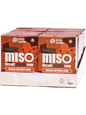 KING SOBA Instant Hearty Red Miso Soup 10x100g