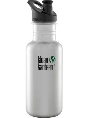 KLEAN KANTEEN Stainless Steel Bottle Brushed Stainless - Sports Cap 532ml