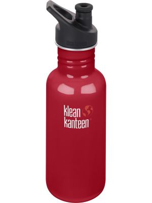 KLEAN KANTEEN Stainless Steel Bottle Mineral Red - Sports Cap 532ml