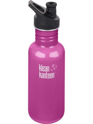 KLEAN KANTEEN Stainless Steel Bottle Wild Orchid - Sports Cap 532ml