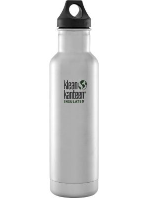 KLEAN KANTEEN Stainless Steel Bottle Insulated Brushed Stainless - Loop Cap 592ml