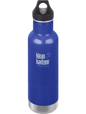 KLEAN KANTEEN Stainless Steel Bottle Insulated Coastal Waters - Loop Cap 592ml