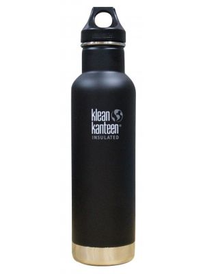 KLEAN KANTEEN Stainless Steel Bottle Insulated Shale Black - Loop Cap 592ml