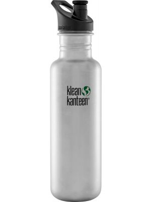 KLEAN KANTEEN Stainless Steel Bottle Brushed Stainless - Sports Cap 800ml