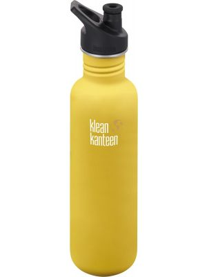 KLEAN KANTEEN Stainless Steel Bottle Lemon Curry - Sports Cap 800ml