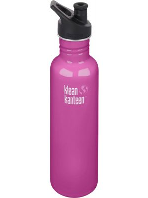 KLEAN KANTEEN Stainless Steel Bottle Wild Orchid - Sports Cap 800ml