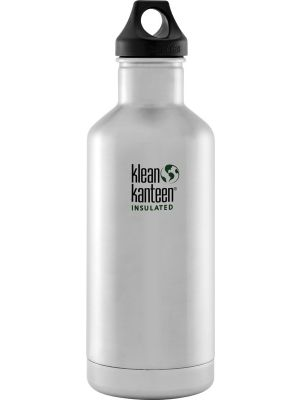 KLEAN KANTEEN Stainless Steel Bottle Insulated Brushed Stainless - Loop Cap 946ml