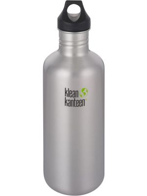 KLEAN KANTEEN Stainless Steel Bottle Brushed Stainless - Loop Cap 1182ml