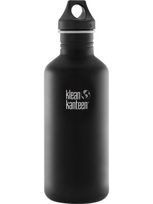 KLEAN KANTEEN Stainless Steel Bottle Shale Black - Loop Cap 1182ml