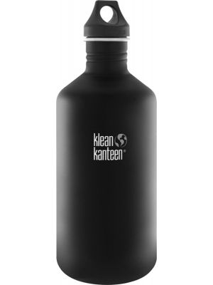 KLEAN KANTEEN Stainless Steel Bottle Shale Black - Loop Cap 1900ml
