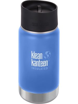 KLEAN KANTEEN Wide Insulated Travel Mug Brushed Stainless - Café Cap 355ml