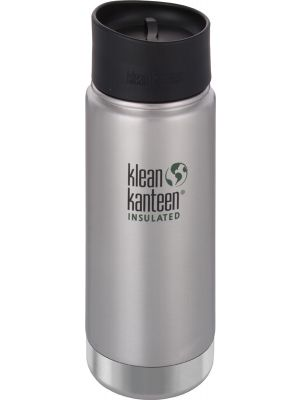 KLEAN KANTEEN Wide Insulated Travel Mug Brushed Stainless - Café Cap 473ml