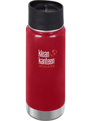 KLEAN KANTEEN Wide Insulated Travel Mug Mineral Red - Café Cap 473ml