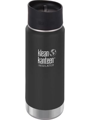 KLEAN KANTEEN Wide Insulated Travel Mug Shale Black - Café Cap 473ml