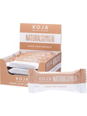 KOJA Natural Peanut Butter Bar Choc Chip Crunch 16x30g
