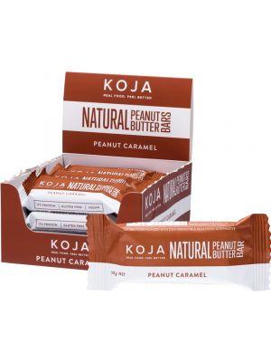 KOJA Natural Peanut Butter Bar Peanut Caramel 16x30g