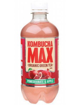 KOMBUCHA MAX Organic Green Tea Kombucha Drink Pomegranate & Apple 500ml