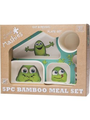 LITTLE MASHIES 5pc Bamboo Meal Set Biodegradable 1