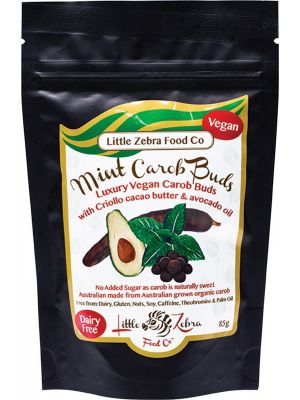 LITTLE ZEBRA CHOCOLATES Carob Buds Mint 85g