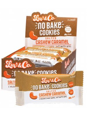 LUV SUM LUV & CO No Bake Cookies Salted Cashew Caramel 12x40g