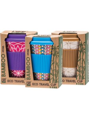 LUVIN LIFE Bamboo Travel Cup Designs Vary 430ml