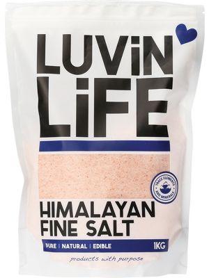 LUVIN LIFE Himalayan Salt Fine 1kg