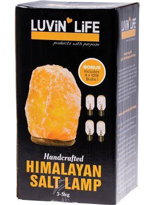 LUVIN LIFE Himalayan Salt Lamp 3-5 Kg