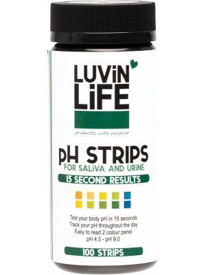 LUVIN LIFE PH Strips For Saliva & Urine 100