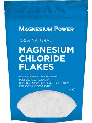 MAGNESIUM POWER Magnesium Chloride Flakes 100% Natural 1kg