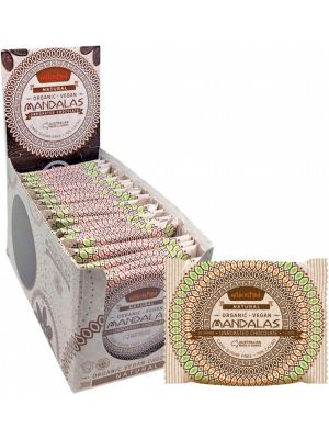 MANDALAS CHOCOLATE Unroasted Chocolate Disc Natural - Single Pack (Box Of 24) 24x24g