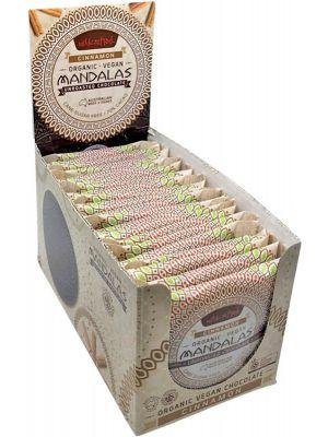 MANDALAS CHOCOLATE Unroasted Chocolate Disc Cinnamon - Single Pack (Box Of 24) 24x24g