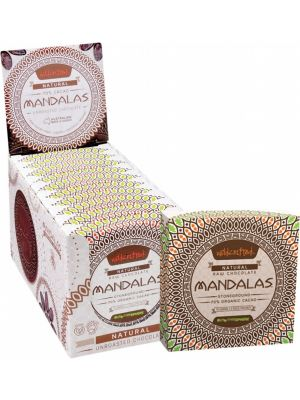 MANDALAS CHOCOLATE Unroasted Chocolate Disc Natural - Triple Pack (Box Of 10) 10x72g
