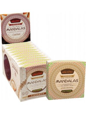 MANDALAS CHOCOLATE Unroasted Chocolate Disc Cinnamon - Triple Pack (Box Of 10) 10x72g