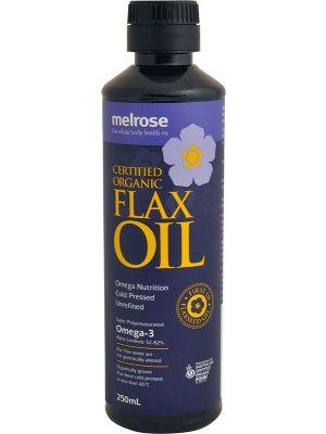MELROSE Flax Oil Certified Organic 250ml