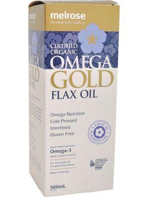 MELROSE Flax Oil - Omega Gold Certified Organic 500ml
