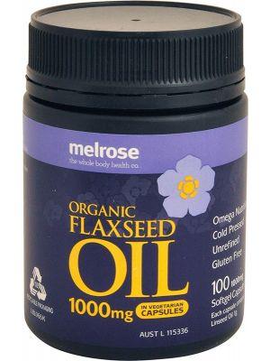 MELROSE Flaxseed Organic Organic - Capsules (1000mg) 100