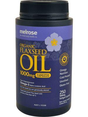 MELROSE Flaxseed Organic Organic - Capsules (1000mg) 250