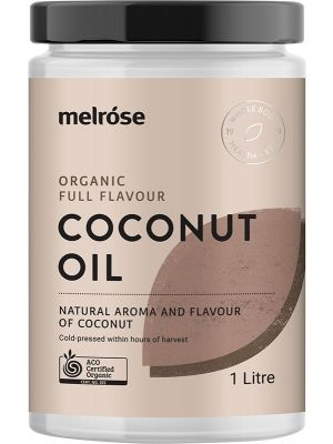 MELROSE Full Flavour Coconut Oil Organic 1L