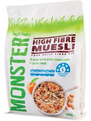 MONSTER HEALTH FOOD CO Muesli High Fibre 700g