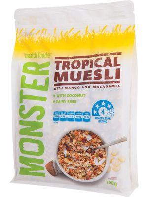 MONSTER HEALTH FOOD CO Muesli Tropical 700g