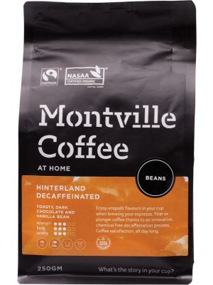 MONTVILLE COFFEE Decaf Coffee Beans Hinterland Blend 250g