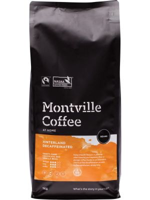 MONTVILLE COFFEE Decaf Coffee Beans Hinterland Blend 1kg