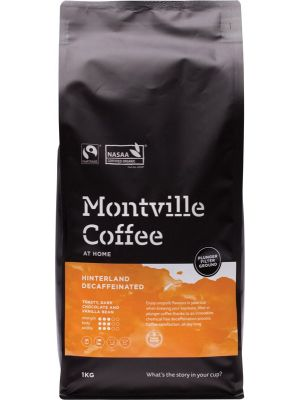 MONTVILLE COFFEE Decaf Coffee Ground (Plunger) Hinterland Blend 1kg