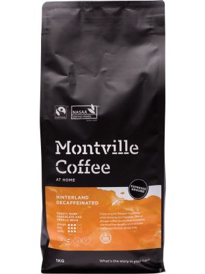 MONTVILLE COFFEE Decaf Coffee Ground (Espresso) Hinterland Blend 1kg