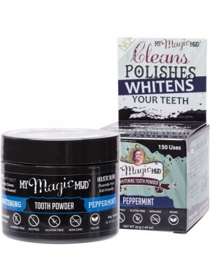 MY MAGIC MUD Whitening Tooth Powder With Charcoal - Peppermint 30g