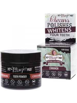 MY MAGIC MUD Whitening Tooth Powder With Charcoal - Cinnamon 30g