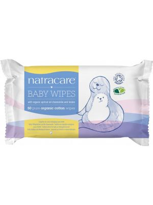 Natracare Baby Wipes 50 pack