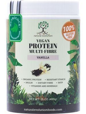 NATURAL EVOLUTION Vegan Protein Multi-Fibre Vanilla 400g