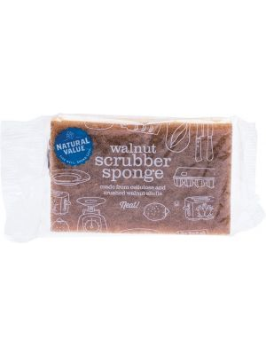 NATURAL VALUE Walnut Scrubber Sponge 1
