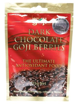 NATURALLY GOJI Dark Choc Goji Berries 125g